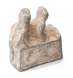 2 Seated Terracotta Figures