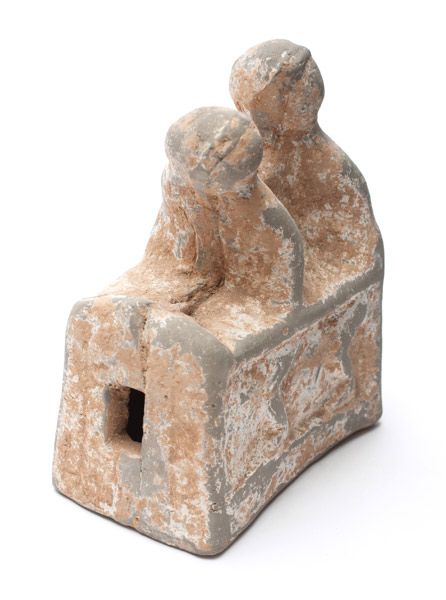 2 Seated Terracotta Figures(Chinese Sculpture)
