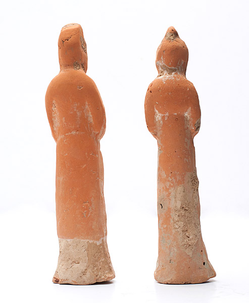 Pair of Court Attendants(Chinese Sculpture)