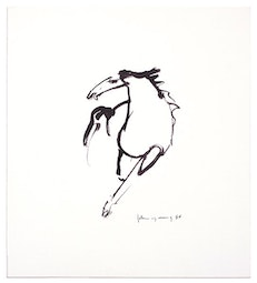 Small Brush & Ink Horse by John Young