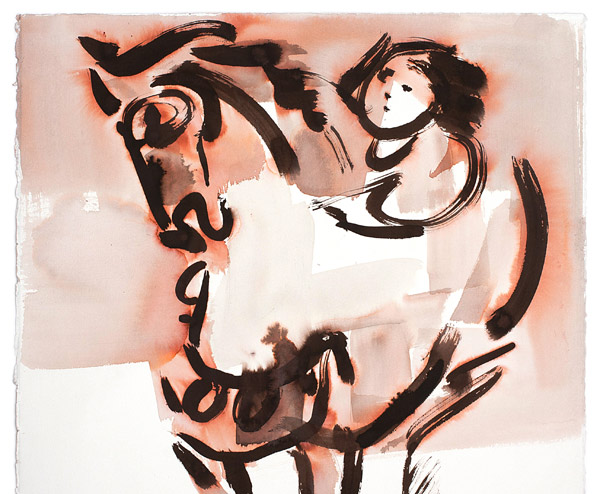 Child on Horse by John Young(Hawaiian Painting/Drawing)