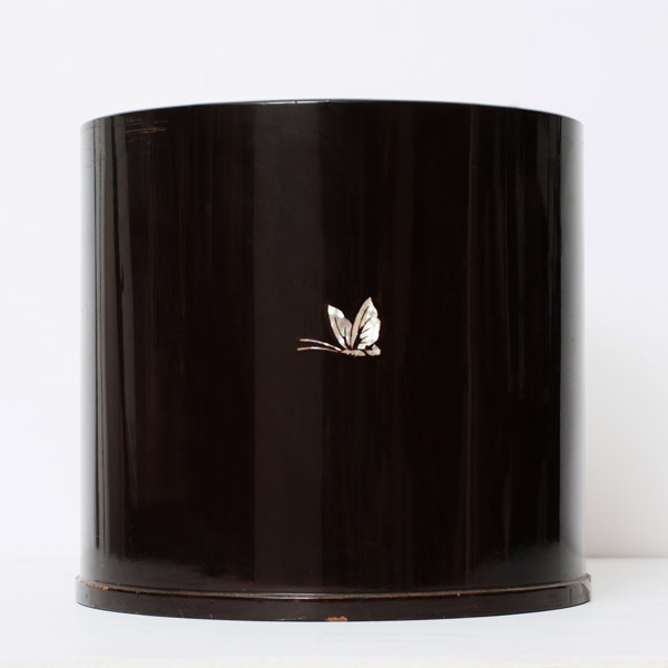Lacquer Hibachi Pair(Japanese Lacquer)