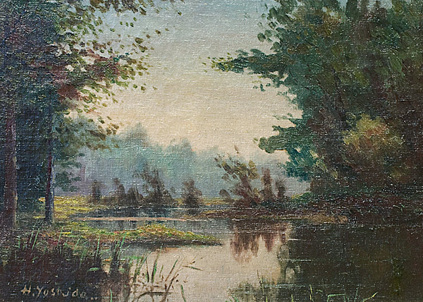 Pond in the Forest by Yoshida, Hiroshi 吉田 博(Japanese Painting/Drawing)