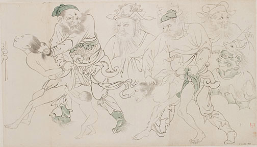 Procession to Hell(Chinese Scroll)