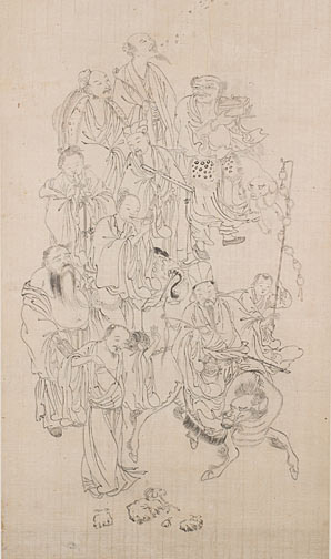 Daoist Immortals(Chinese Scroll)