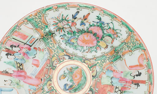 Small Canton Ware Plate(Chinese Functional Object)