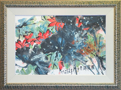 Fire Flowers by H. H. Wong 黃可鏗(Chinese Painting/Drawing)