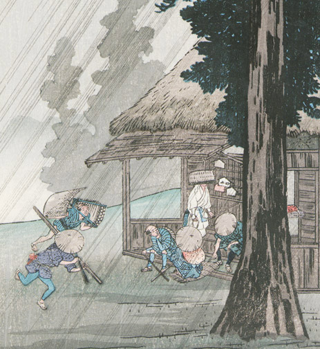 Evening Shower at Takaido by Shotei/Takahashi Hiroaki(Japanese Print)
