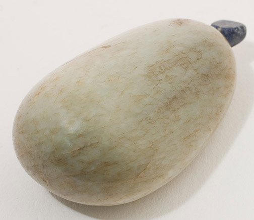 Jade Pebble Snuff Bottle(Chinese Sculpture)