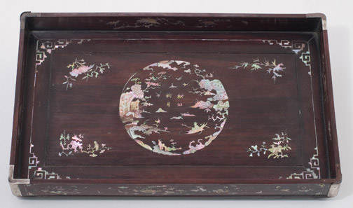 Vietnamese Mother-of-Pearl Inlaid Tray(Southeast Asian Functional Object)