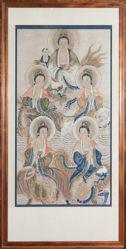 Five Bodhisattvas(Chinese Painting/Drawing)