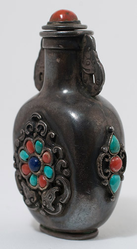 Mongolian Snuff Bottle(Chinese Sculpture)