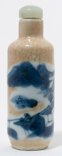 Crackle Glazed Snuff Bottle(Chinese Sculpture)