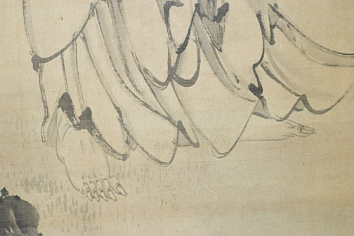 Shakyamuni Coming Down the Mountain by Furuichi Kinga (1805-1880)(Japanese Scroll)