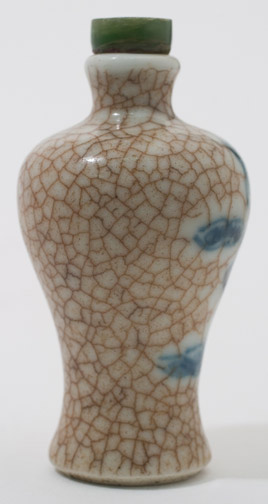 Porcelain Snuff Bottle(Chinese Sculpture)