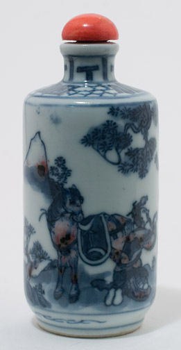 Blue & White Porcelain Snuff Bottle(Chinese Sculpture)
