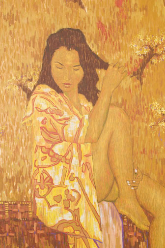 Waiting by Anton Slothower(Polynesian Painting/Drawing)