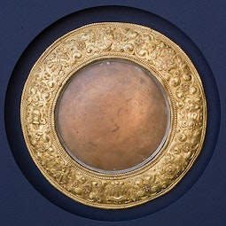 Gilt Bronze Shaman's Mirror