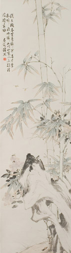 Pair of scrolls with Bamboo & Insects by Pan Ran(Chinese Scroll)