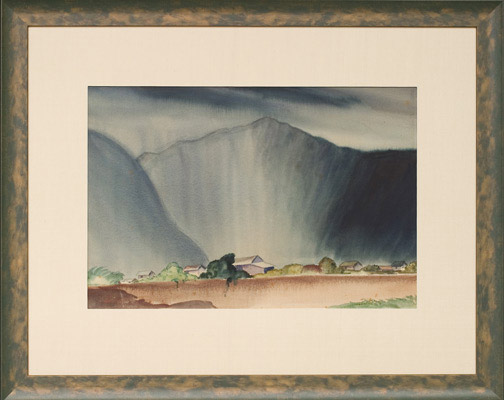 Misty Morning(Hawaiian Painting/Drawing)