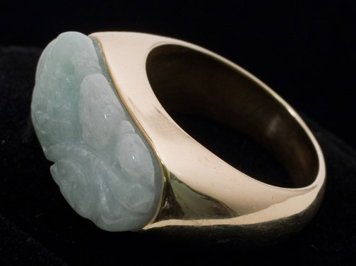 White Jadeite Ring(Chinese Jewelry)
