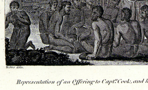 Offering to Captain Cook at Owhyhee by John Webber(Hawaiian Print)