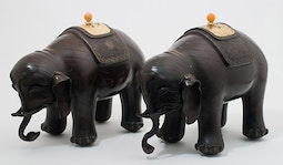 Pair of Bronze Elephants
