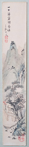 Landscape Tanzaku by Misho Sanjin(Japanese Painting/Drawing)