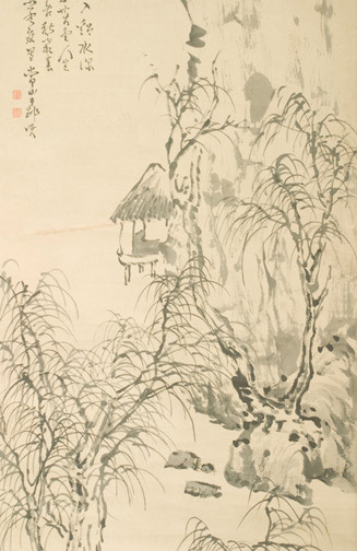 Landscape by Imura Jozan(Japanese Scroll)