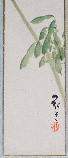 Tree Branch Tanzaku by Kodo(Japanese Painting/Drawing)