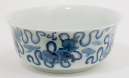 Blue & White Fu Dog Bowl