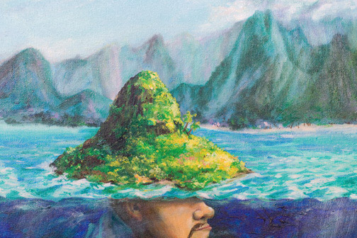 The Story of Chinaman's Hat by Dean Howell(Hawaiian Painting/Drawing)