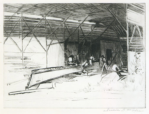 Boatyard by Jessie S. Fisher(Hawaiian Print)