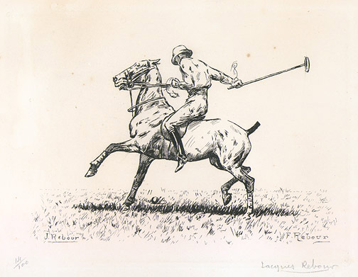 Polo Player (14/100) by Jacques Rebour(European Print)