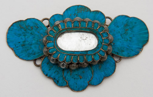 Chinese Ornament with Blue Kingfisher Feathers(Chinese Jewelry)
