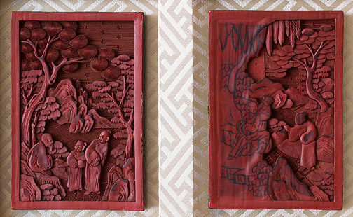Lacquer Carving Demo Plaques(Chinese Sculpture)