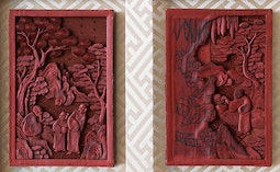 Lacquer Carving Demo Plaques