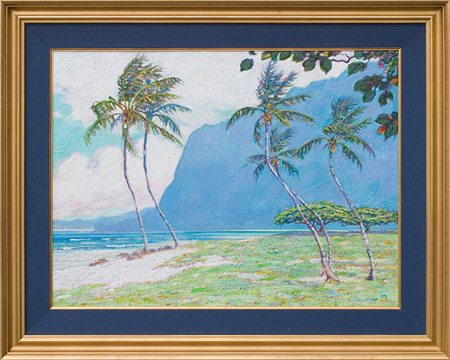 Kalanianaole Mountain by Dennis Morton(Hawaiian Painting/Drawing)