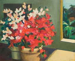 Twins - Bougainville by Anne Irons