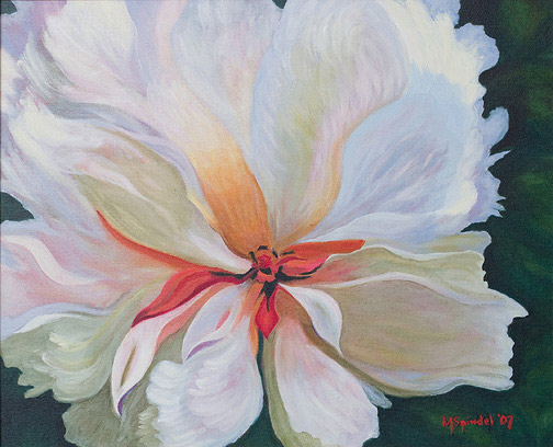 Tropical Flower by Michael Spindel(Hawaiian Painting/Drawing)