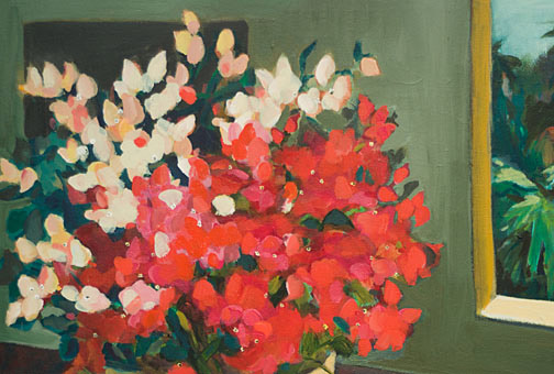 Twins - Bougainville by Anne Irons(Hawaiian Painting/Drawing)