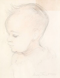 Baby Sketch by Madge Tennent