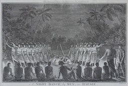 A Night Dance by Men in Hapaee  by John Webber
