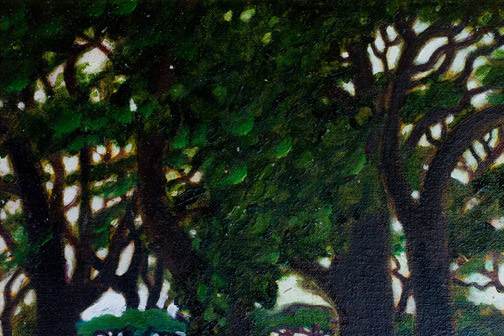 Tropical Forest by Dennis Morton(Hawaiian Painting/Drawing)