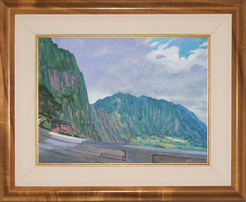Pali Gap Road by Dennis Morton(Hawaiian Painting/Drawing)