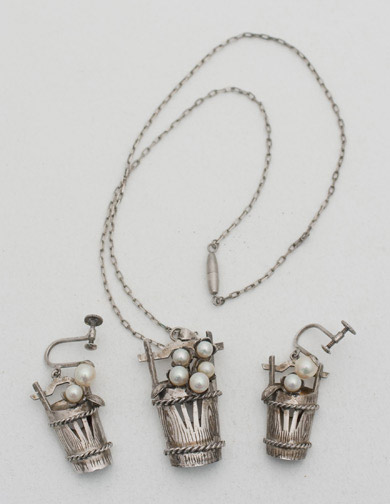 Necklace & Earring Set(Japanese Jewelry)