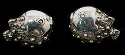 Silver Blowfish Earrings