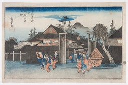 Shimabara - Famous Views of Kyoto by Hiroshige