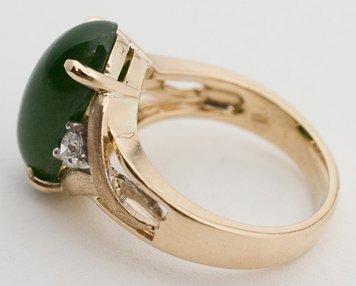Jadeite & Diamond Ring(Chinese Jewelry)