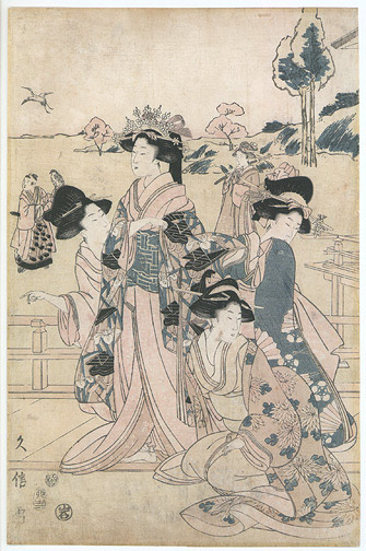 Courtesans by Hisanobu(Japanese Print)
